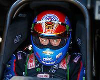 Oct 16, 2016; Ennis, TX, USA; NHRA funny car driver Robert Hight during the Fall Nationals at Texas Motorplex. Mandatory Credit: Mark J. Rebilas-USA TODAY Sports