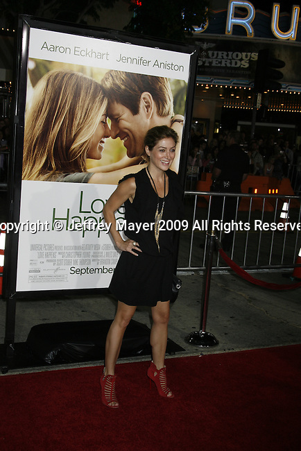 """WESTWOOD, CA. - September 15: Sasha Alexander arrives at the Los Angeles premiere of """"Love Happens"""" at the Mann's Village Theatre on September 15, 2009 in West wood, Los Angeles, California."""