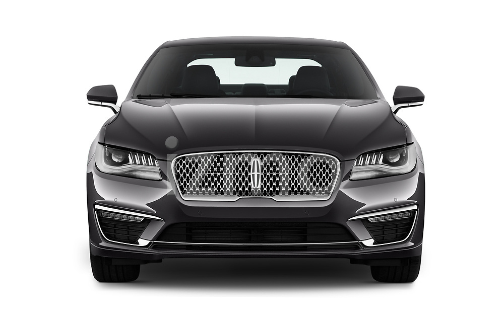 Car photography straight front view of a 2020 Lincoln MKZ Standard 4 Door Sedan Front View