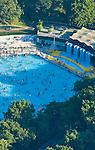 Aerial photographs of central park pool, midtown Manhattan, New York, New York,