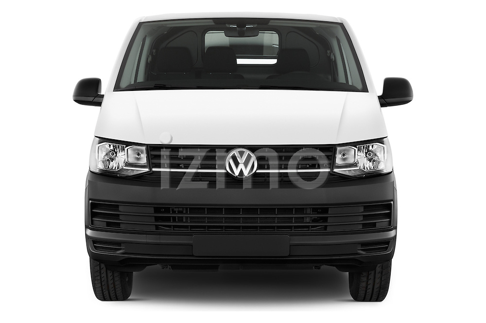 Car photography straight front view of a 2016 Volkswagen Transporter-Furgon - 4 Door Cargo Van Front View