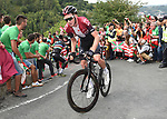 Tao Geoghegan Hart (GBR) Team Ineos on the final climb during Stage 12 of La Vuelta 2019 running 171.4km from Circuito de Navarra to Bilbao, Spain. 5th September 2019.<br /> Picture: Colin Flockton | Cyclefile<br /> <br /> All photos usage must carry mandatory copyright credit (© Cyclefile | Colin Flockton)