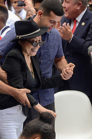 NEW YORK, NY - SEPTEMBER 13: Yoko Ono attends the Fifth Annual Come Together: NYC Bed-In Celebration at City Hall on September 13, 2018 in New York City. <br /> CAP/MPI/RH<br /> &copy;RH/MPI/Capital Pictures