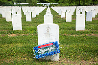 NEW YORK, NY - MAY 25: View of a grave of an American soldier at the Cypress Hill Military Cemetery on May 25, 2020 in Brooklyn, NY. Memorial Day is an American holiday that commemorates the men and women who died while serving in the United States Army. Today this date is celebrated during the Covid-19 pandemic that has caused thousands of deaths in the United States and around the world.  (Photo by Pablo Monsalve / VIEWpress)