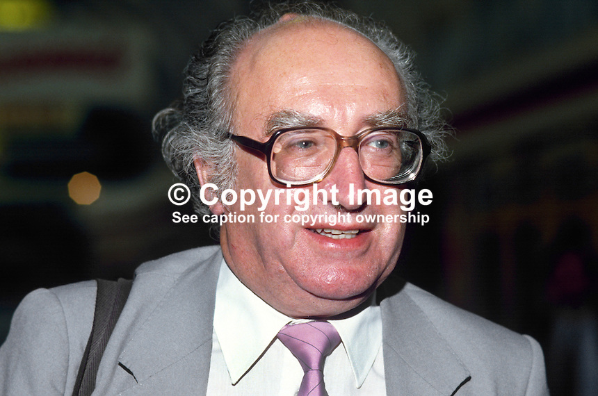 Fred Jarvis, general secretary, National Union of Teachers, UK. Ref: 19850902/FJ.<br /> <br /> Copyright Image from Victor Patterson, 54 Dorchester Park, Belfast, UK, BT9 6RJ<br /> <br /> t1: +44 28 9066 1296<br /> t2: +44 28 9002 2446<br /> m: +44 7802 353836<br /> <br /> e1: victorpatterson@me.com<br /> e2: victorpatterson@gmail.com<br /> <br /> www.victorpatterson.com<br /> <br /> IMPORTANT: Please see my Terms and Conditions of Use at www.victorpatterson.com