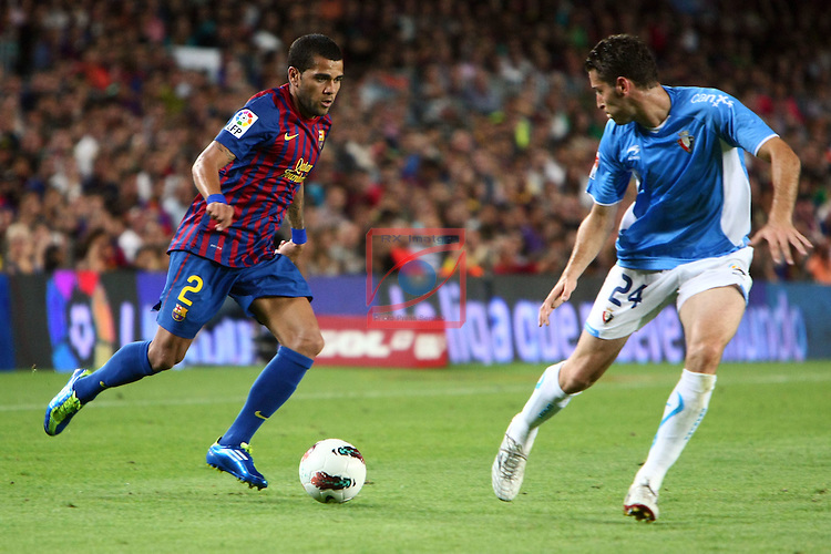 Alves vs Damia. FC Barcelona vs Osasuna: 8-0 (League BBVA 2011/12 - Season 4).