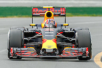 March 18, 2016: Daniil Kvyat (RUS) #26 from the Red Bull Racing team rounds turn 2 during practise session one at the 2016 Australian Formula One Grand Prix at Albert Park, Melbourne, Australia. Photo Sydney Low