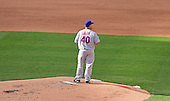 New York Mets Mets pitcher Bartolo Colon (40) looks to right field after giving up a fifth inning home run to Washington Nationals right fielder Bryce Harper (34), not pictured, against the Washington Nationals at Nationals Park in Washington, D.C. on Monday, April 6, 2015.<br /> Credit: Ron Sachs / CNP<br /> (RESTRICTION: NO New York or New Jersey Newspapers or newspapers within a 75 mile radius of New York City)