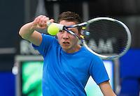 Rotterdam, Netherlands, December 18, 2015,  Topsport Centrum, Lotto NK Tennis, Wheelchair semifinal : Ruben Spaargaren (NED)<br /> Photo: Tennisimages/Henk Koster