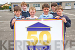 Castleisland Boys National School are celebrating 50 years in College Road this year and to mark the occasion they are having a major celebration at the school this week. .L-R Lorcan Hickey, Sean Spillane, Darragh Griffin, Luke Walsh, Paul Walsh and Ben Cooney.
