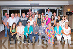 Eddie Glavin, Laccamore, Abbeydourney seated center who celebrated his 50th birthday with his family and friends in Darby O'Gills hotel killarney on Friday