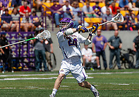 Alex Burgmaster (#24) shoots and scores as UAlbany Lacrosse defeats Vermont 14-4  in the American East Conference Championship game at Casey Stadium, May 5.