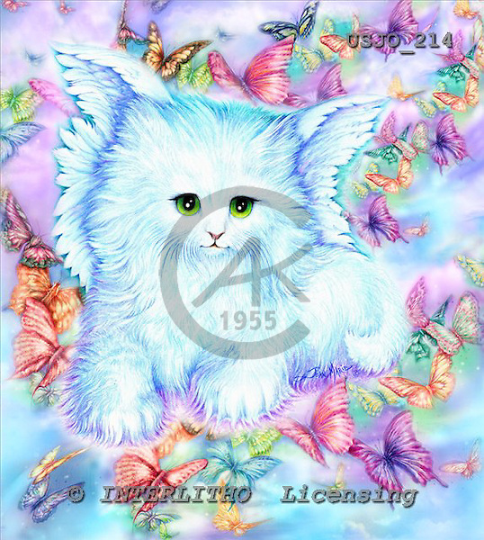 Marie, REALISTIC ANIMALS, REALISTISCHE TIERE, ANIMALES REALISTICOS, paintings+++++,USJO214,#A# ,Joan Marie cat angel