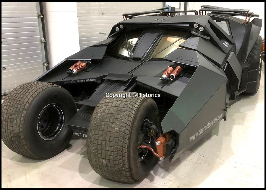 BNPS.co.uk (01202 558833)<br /> Pic:  Historics/BNPS<br /> <br /> A breathtaking recreation of the batmobile used in the Dark Knight trilogy has emerged for sale for a staggering £120,000.<br /> <br /> The stunningly accurate vehicle is based on the chassis of a standard Toyota MR2 sports car and took a full year to transform.<br /> <br /> It is now almost identical to the famous vehicle used in the movies and is even fitted with a flame thrower at the rear of the car.