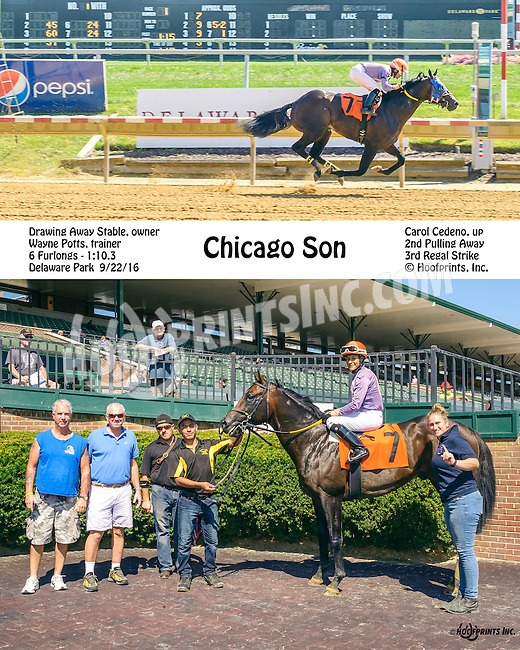 Chicago Son winning at Delaware Park on 9/22/16