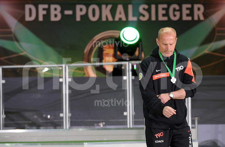 FUSSBALL      DFB POKAL FINALE       SAISON 2009/2010 SV Werder Bremen - FC Bayern Muenchen    15.05.2010 Trainer Thomas SCHAAF (Bremen) ist nach dem Abpfiff enttaeuscht