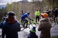 K&eacute;vin R&eacute;za (FRA/FDJ) up the Col du Rosier<br /> <br /> 102nd Li&egrave;ge-Bastogne-Li&egrave;ge 2016