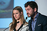 Manuela Velles and Raul Arevalo attend the photocall of the nominates reading of Jose Maria Forque Awards in Madrid, Spain. December 18, 2014. (ALTERPHOTOS/Carlos Dafonte)