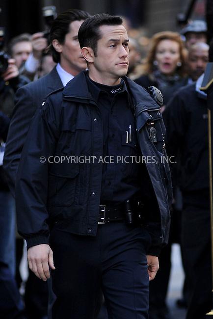 WWW.ACEPIXS.COM . . . . . .October 28, 2011...New York City...Joseph Gordon-Levitt films the The Dark Knight Rises in midtown on October 28, 2011 in New York City....Please byline: KRISTIN CALLAHAN - ACEPIXS.COM.. . . . . . ..Ace Pictures, Inc: ..tel: (212) 243 8787 or (646) 769 0430..e-mail: info@acepixs.com..web: http://www.acepixs.com .