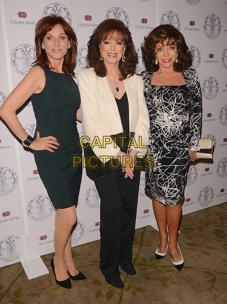 22 April 2014 - Los Angeles, California - Marilu Henner, Jackie Collins, Joan Collins. Arrivals for the Women's Guild Cedars-Sinai Spring Luncheon held at the Beverly Hills Hotel in Beverly Hills, Ca. <br /> CAP/ADM/BT<br /> &copy;Birdie Thompson/AdMedia/Capital Pictures