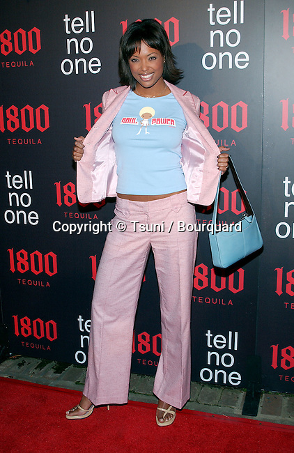 """Aisha Tyler arriving """"At Tell No One, talent party promoting the 1800 Tequila""""  at the Chatau Marmont in Los Angeles. May, 2nd 2002."""