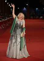 L'attrice italiana Sandra Milo posa durante il red carpet per la presentazione del film 'Pavarotti' alla 14^ Festa del Cinema di Roma all'Aufditorium Parco della Musica di Roma, 18 ottobre 2019.<br /> Italian actress Sandra Milo poses during the red carpet to present the movie 'Pavarotti' during the 14^ Rome Film Fest at Rome's Auditorium, on 18 october 2019.<br /> UPDATE IMAGES PRESS/Isabella Bonotto