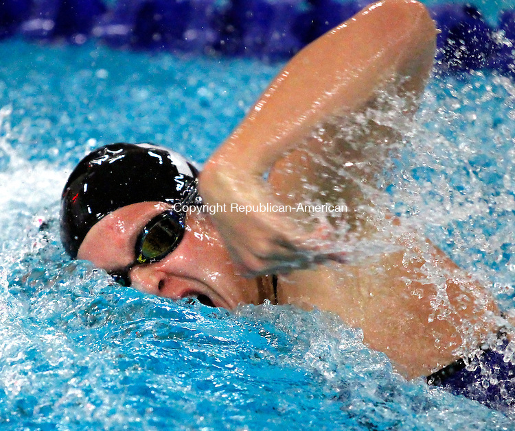 WATERBURY, CT- 06, November 2010-110610CM12 St. Paul's Faith Martin won the 50 yard freestyle at the girls NVL swimming championships Saturday afternoon at Kennedy High School in Waterbury. Martin's time was a 24.51.   Christopher Massa Republican-American