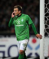 FUSSBALL   1. BUNDESLIGA   SAISON 2011/2012    9. SPIELTAG SV Werder Bremen - Borussia Dortmund                 14.10.2011 Philipp BARGFREDE (Bremen) enttaeuscht