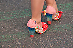 A pair of whimsical shoes worn by a woman in the Easter Parade in New York City