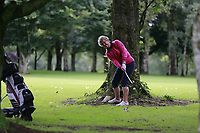 Eleanor McKelvey (Malone) during the final  of the Ulster Mixed Foursomes at Killymoon Golf Club, Belfast, Northern Ireland. 26/08/2017<br /> Picture: Fran Caffrey / Golffile<br /> <br /> All photo usage must carry mandatory copyright credit (&copy; Golffile   Fran Caffrey)