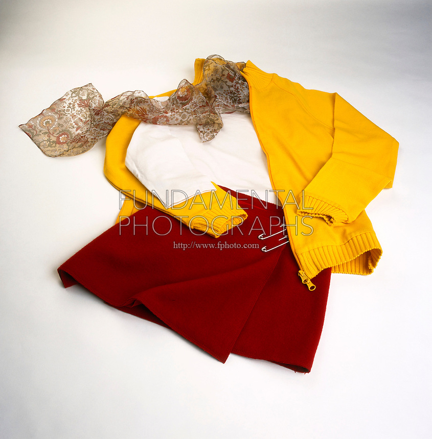 NATURAL &amp; SYNTHETIC POLYMERS (Variations available upon request)<br /> Wool, Silk, Nylon &amp; Polyester Clothing<br /> Wool &amp; silk (the skirt and blouse) are natural polymers.  Synthetics such as nylon and polyester (the scarf &amp; jacket) have the same bonding with properties tailored to a particular purpose.