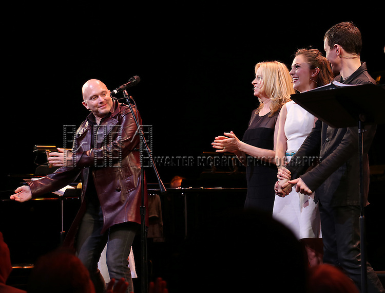 Michael Cerveris, Vonda Shepard, Laura Osnes and Tony Vincent during the Curtain Call for the New York City Center Encores! Off-Center production of 'Randy Newman's FAUST' - The Concert at City Center on July 1, 2014 in New York City.