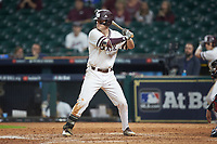 Tanner Allen (5) of the Mississippi State Bulldogs at bat against the Houston Cougars in game six of the 2018 Shriners Hospitals for Children College Classic at Minute Maid Park on March 3, 2018 in Houston, Texas. The Bulldogs defeated the Cougars 3-2 in 12 innings. (Brian Westerholt/Four Seam Images)