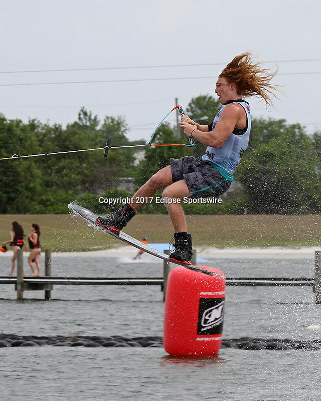 ORLANDO, FL - April 30:  Noah Flegel USA finishes in 3rd place of the Men's Professional Division Final of the WWA Nautique Wake Open 2017 at  the Orlando Watersports Complex on April 30, 2017 in Orlando, Florida. (Photo by Liz Lamont/Eclipse Sportswire/Getty Images)