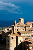 Anghiari, Tuscany, Italy, renowned for the  'Battle of Anghiari' in 1440 between the Milanese and Florentine, commemorated every year in a festival on 29th June in the historic centre.