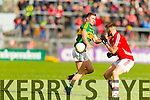 Jonathan Lyne Kerry in action against Eoin Cadogan Cork in the National Football League at Pairc Ui Rinn, Cork on Sunday.