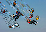 Tourist enjoy the Flying Chairs at Chicago's Navy Pier on Lake Michigan. (DePaul University/Jamie Moncrief)