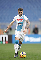 Napoli&rsquo;s Elseid Hysaj in action during the Serie A soccer match between Roma and Napoli at the Olympic stadium, 4 March 2017.<br /> UPDATE IMAGES PRESS/Isabella Bonotto