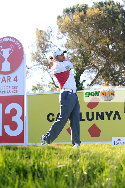 Sergio Garcia (ESP) on the 13th tee during Thursday's Round 1 of The Open De Espana at The PGA Catalunya Resort. 15th May 2014.<br /> Picture:  Thos Caffrey / www.golffile.ie