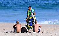 RIO DE JANEIRO, RJ, 19 DE JUNHO DE 2013 -CLIMA-TEMPO-IPANEMA-RJ- Movinentação na praia de Ipanema na tarde desta quarta-feira, 19 de junho, na zona sul do Rio de Janeiro.FOTO:MARCELO FONSECA/BRAZIL PHOTO PRESS
