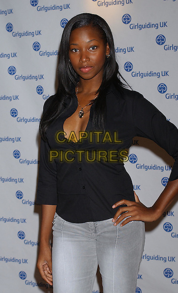 JAMELIA .The Girlguiding Big Gig At Wembley Arena, London.11th October 2003 .half length, half-length.www.capitalpictures.com.sales@capitalpictures.com.Supplied By Capital PIctures