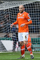 Scott Cuthbert of Luton Town during the Sky Bet League 2 match between Wycombe Wanderers and Luton Town at Adams Park, High Wycombe, England on 6 February 2016. Photo by Andy Rowland.