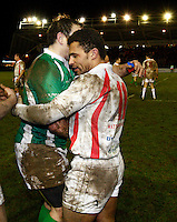 Photo: Richard Lane/Richard Lane Photography. England Legends v Ireland Legends. The Stuart Mangan Memorial Cup. 26/02/2010. England's Jason Robinson, man of the match.