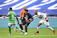 24th July 2020, Stade de France, Paris, France; French football Cup Final, Paris Saint Germain versus  St Ertienne;  10 NEYMAR JR (PSG) goes past 30 JESSY MOULIN (ASSE)