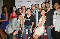 MIAMI BEACH, FL - MAY 22: Denia Hall, Stephanie Andron, David Turetsky, Karina d'Erizans, Victoria Serra, Jorge Morena, Nathan Lieberman, Adrian Banschk, Morgan More, Nancy Sayegh, Eyal Vick and Kris Andres attend The Catalina reality show premiere party at Catalina Hotel on May 22, 2012 in Miami Beach, Florida. (photo by: MPI10/MediaPunch Inc.)