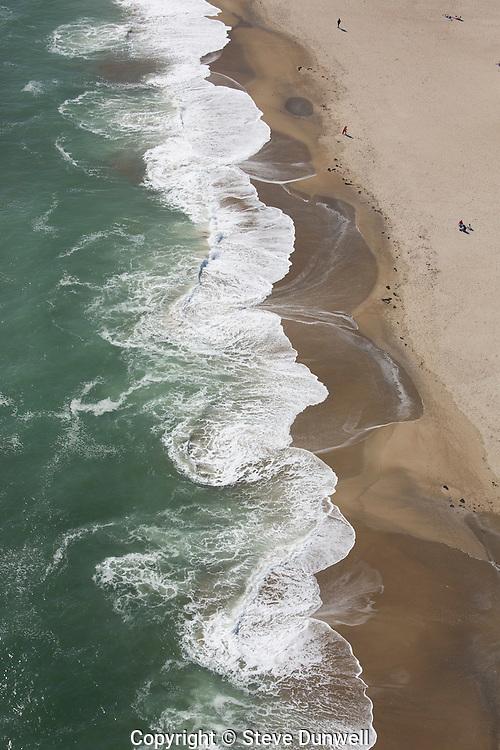 aerial view waves at Hampton Beach, NH