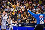 Patrick Zieker (TVB Stuttgart #25) ; Joel Birlehm (SC DHfK Leipzig #35) beim Spiel in der Handball Bundesliga, TVB 1898 Stuttgart - SC DHfK Leipzig.<br /> <br /> Foto © PIX-Sportfotos *** Foto ist honorarpflichtig! *** Auf Anfrage in hoeherer Qualitaet/Aufloesung. Belegexemplar erbeten. Veroeffentlichung ausschliesslich fuer journalistisch-publizistische Zwecke. For editorial use only.