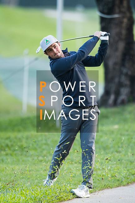 Alfie Plant of England tees off during the day one of UBS Hong Kong Open 2017 at the Hong Kong Golf Club on 23 November 2017, in Hong Kong, Hong Kong. Photo by Marcio Rodrigo Machado / Power Sport Images