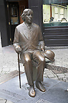 Oscar Wilde statue sitting on a bench, Galway City, Ireland