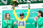 Nairo Quintana (COL) Movistar Team wins the 2016 Tour de Romandie, after Stage 5 running 172km from Ollon to Geneve, Switzerland. 1st May 2016.<br /> Picture: Heinz Zwicky | Newsfile<br /> <br /> <br /> All photos usage must carry mandatory copyright credit (© Newsfile | Heinz Zwicky)